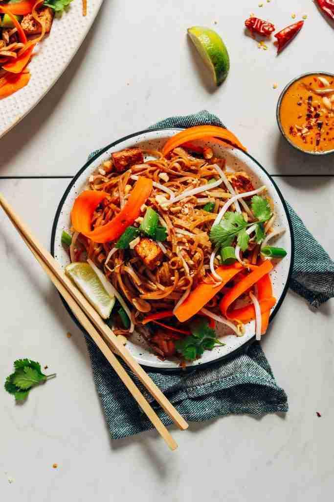 Easy Tofu Pad Thai (Vegan) | Minimalist Baker Recipes