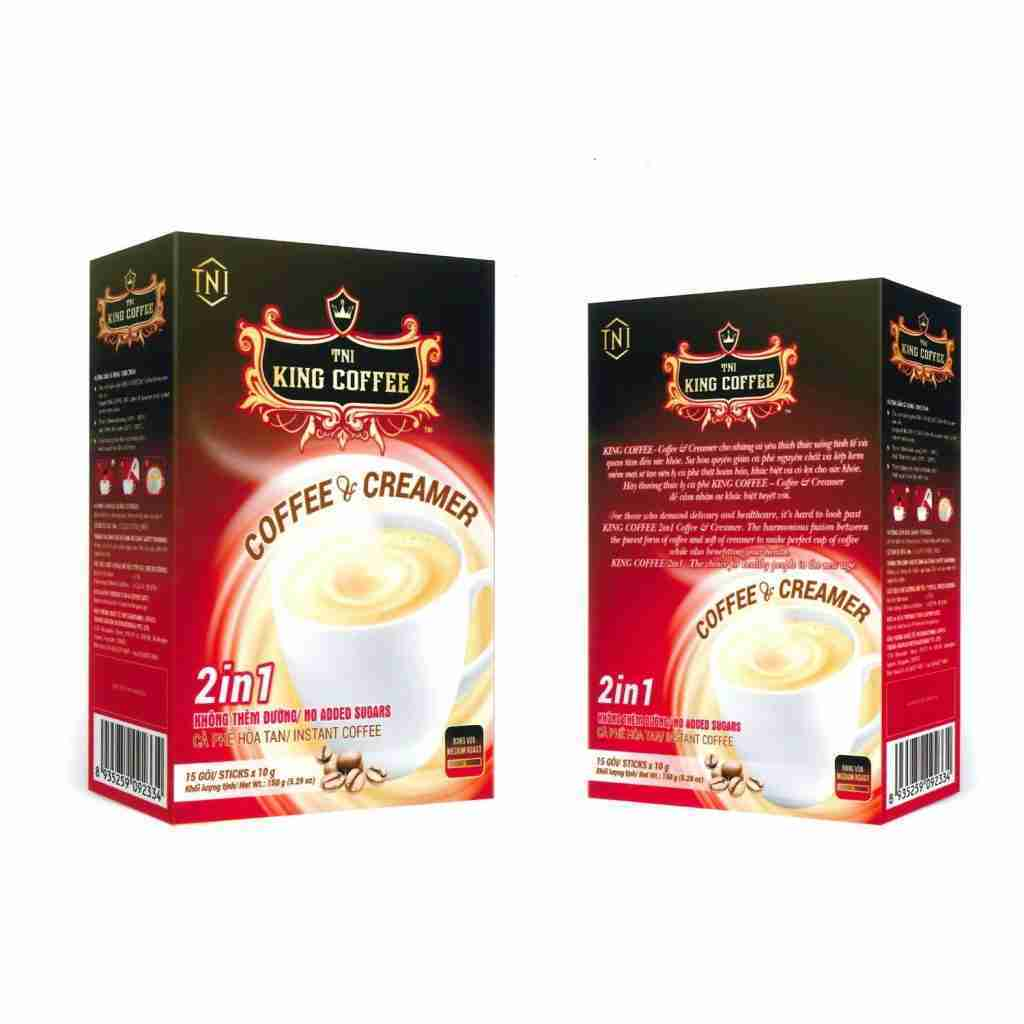 KING COFFEE 2IN1 Coffee & Creamer Instant Coffee | 15 sticks (Pack of 1 box)