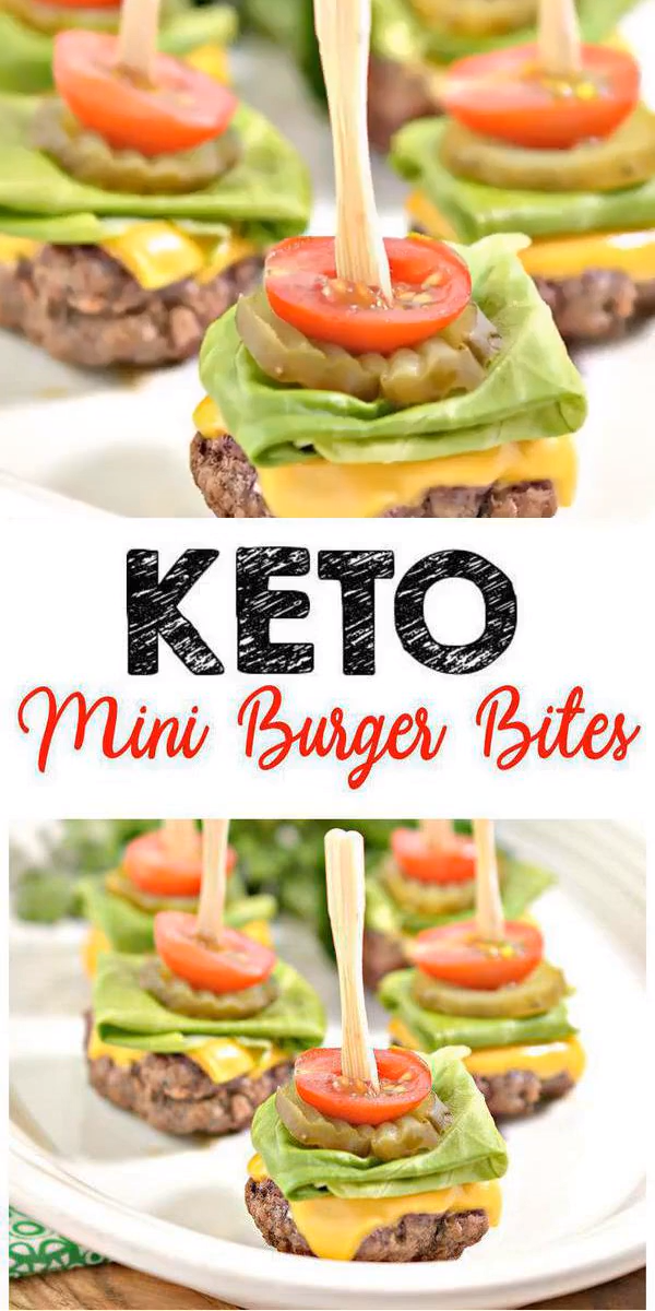 Keto Mini Burger Bites – EASY Low Carb Keto Ground Beef Burger Bites Recipe – BEST Dinner – Lunch – Snack – Appetizer Idea