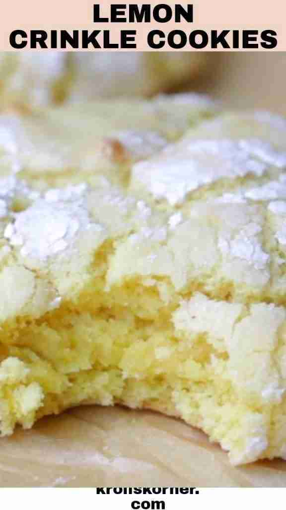 Lemon Crinkle Cookies (VIDEO)