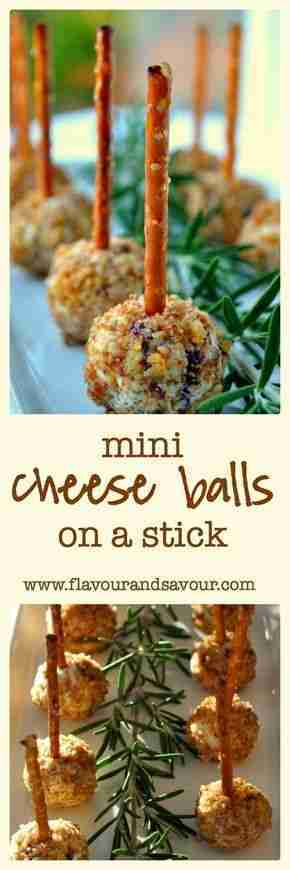 Mini Cheese Balls on a Stick–Fun Finger Food