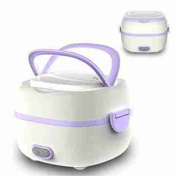 Multifunctional Electric Lunch Box Mini Rice Cooker Portable Food Steamer – 110V US Plug