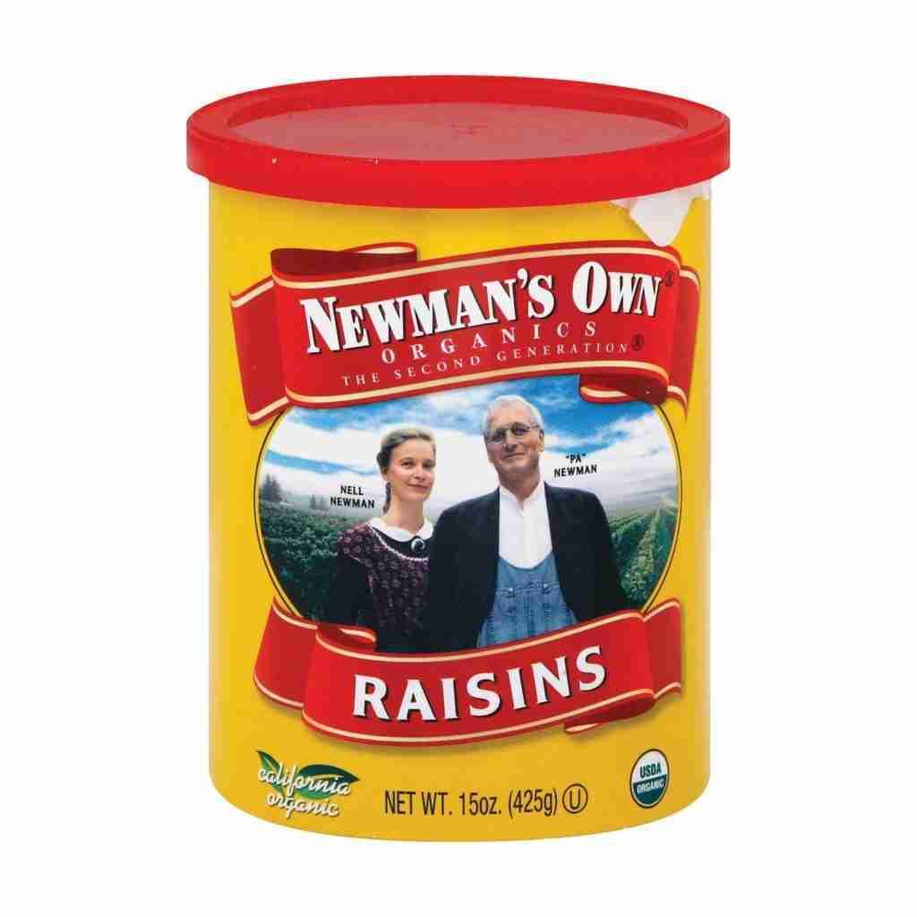 Newman's Own Organics – Raisins – Case Of 12 – 15 Oz.