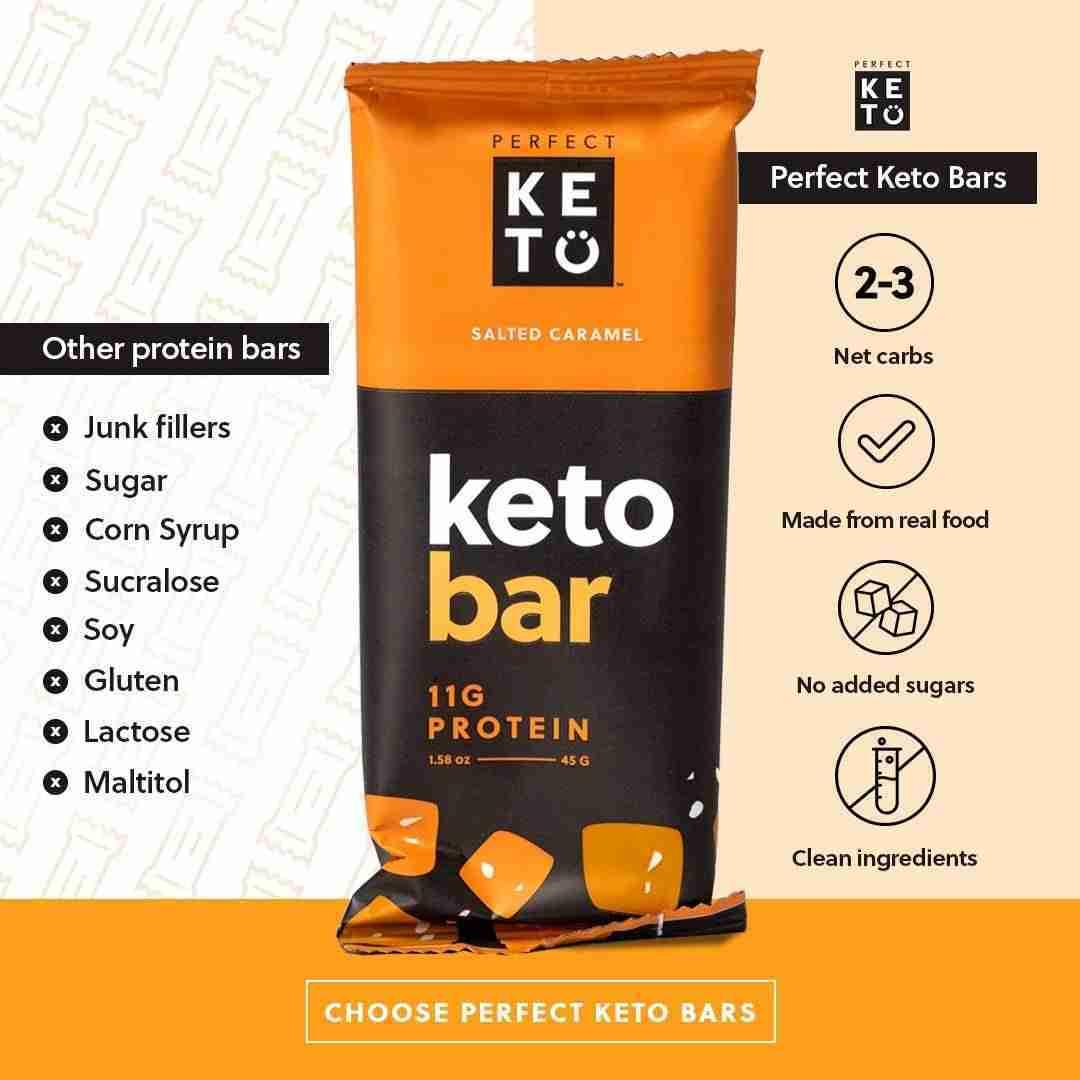 Perfect Keto Bars 12 – Salted Caramel