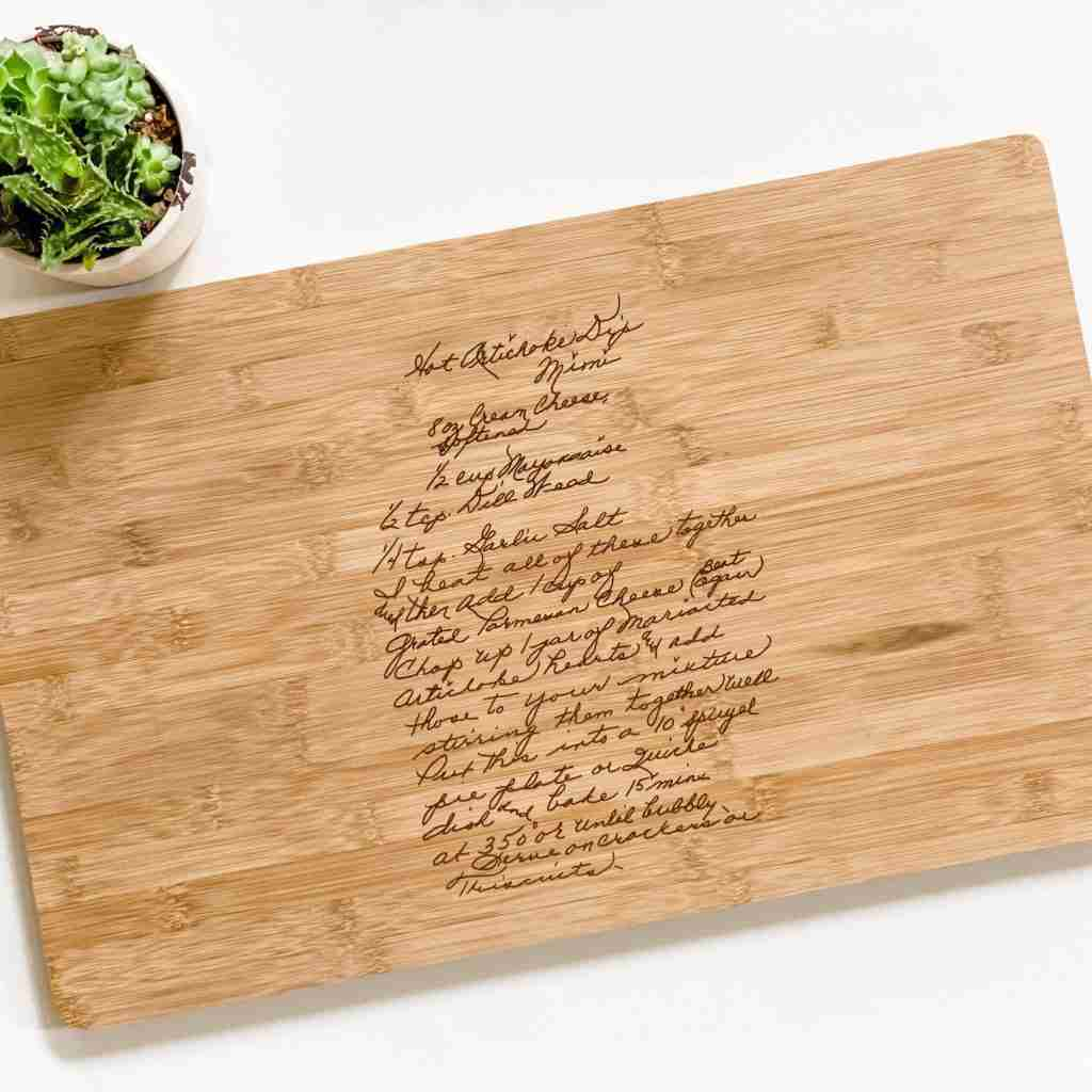 Personalized Cutting Board – 12×19 / Bamboo / No Handle