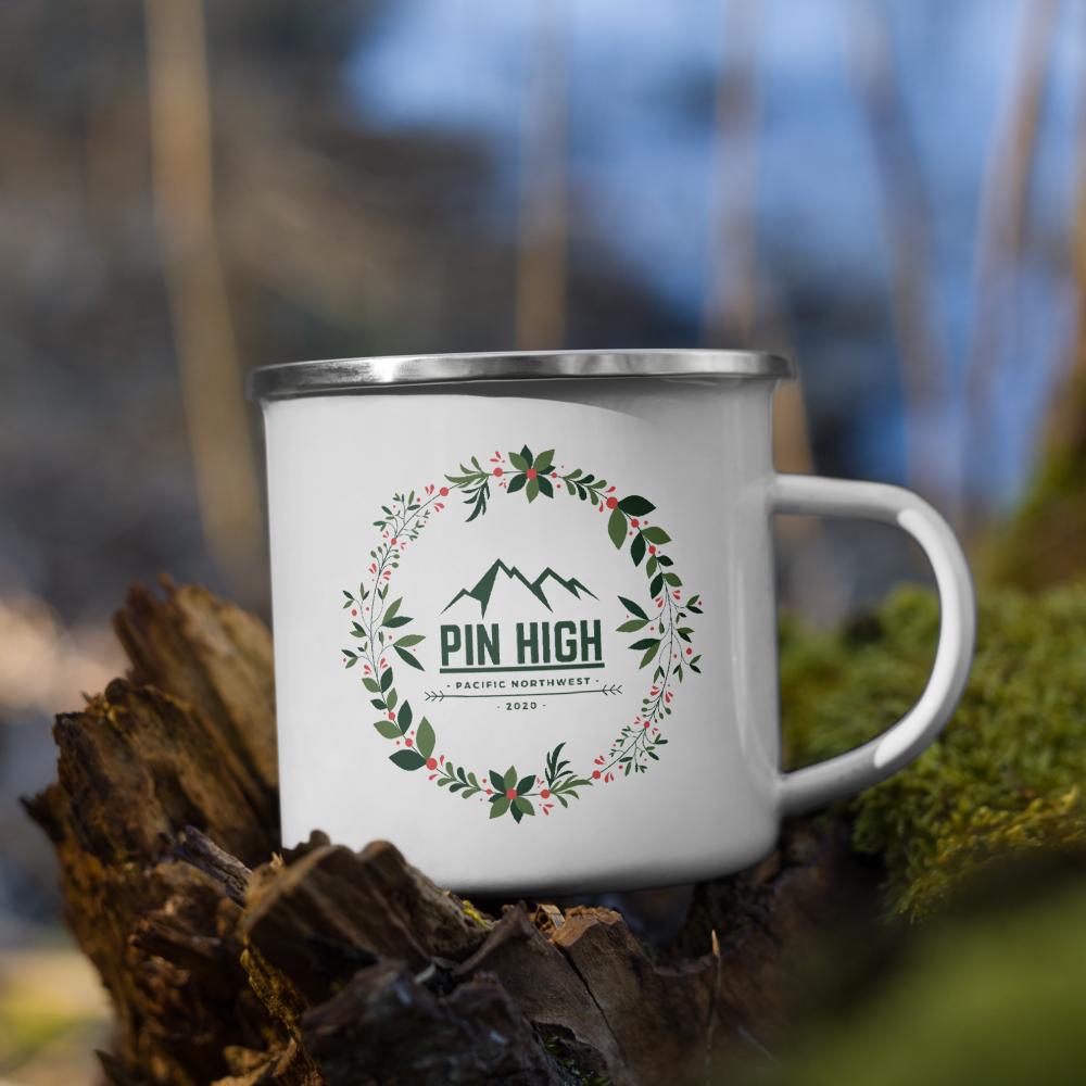 Pin High PNW Christmas 12oz Enamel Mug