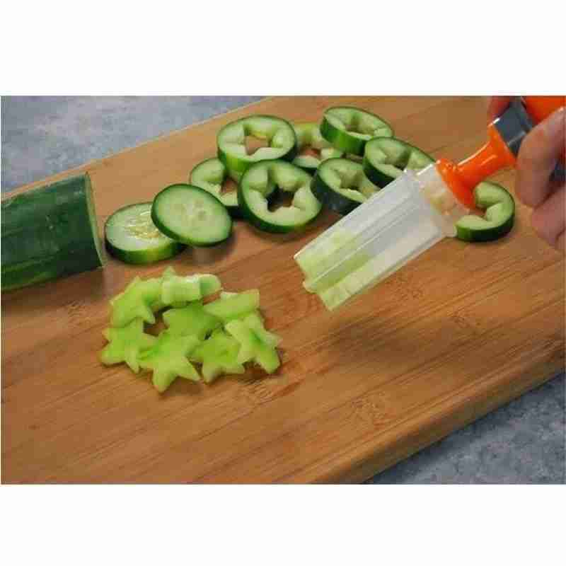 Push And Pop Plastic Fruit Shape Cutter Set Decorator Accessory Kitchen Tool