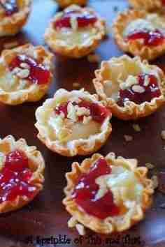 Raspberry Brie Tartlets