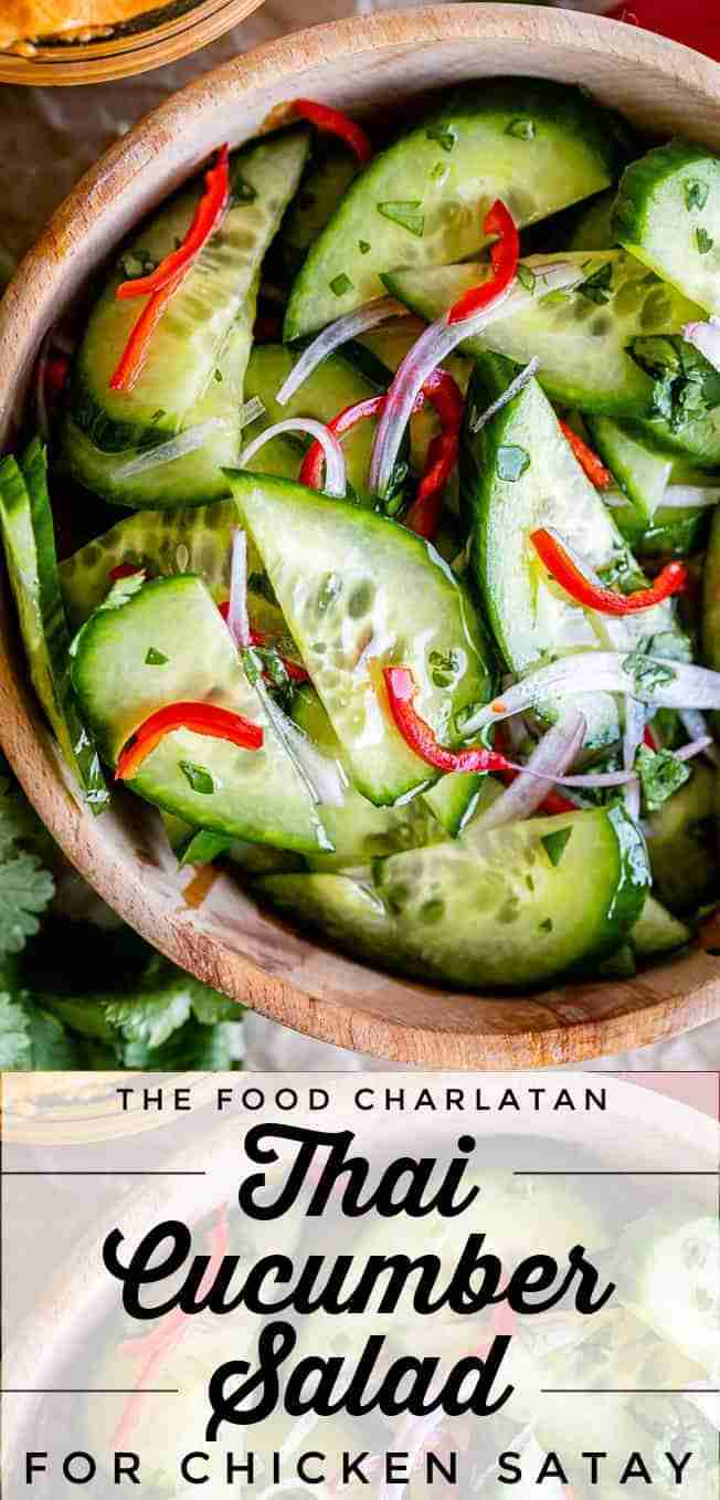 Thai Cucumber Salad (for Chicken Satay) from The Food Charlatan