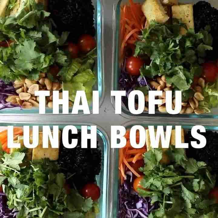 Thai Tofu Lunch Bowls