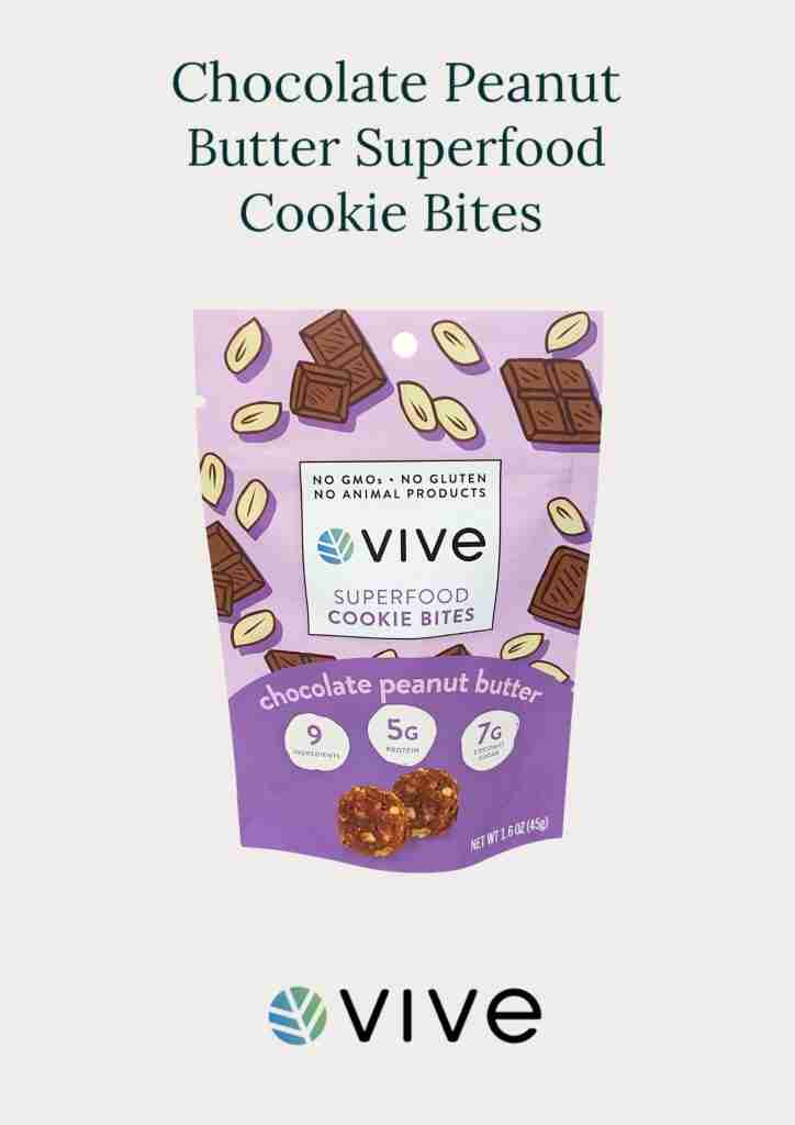 Vive Chocolate Peanut Butter Cookie Bites