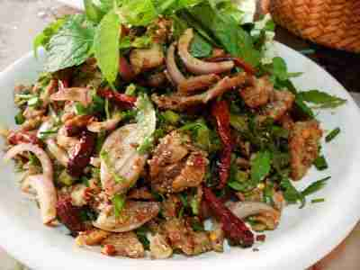 Yum Nam Tok  (Thai Spicy Beef Salad)