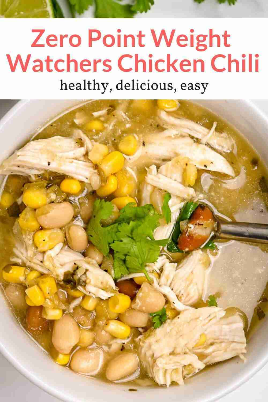 Zero Point Weight Watchers White Chicken Chili – Slender Kitchen