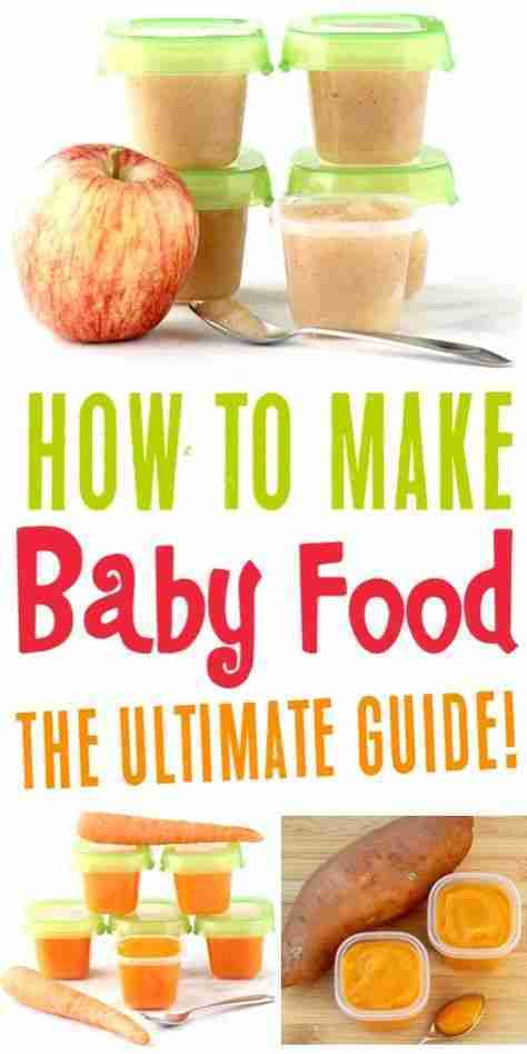 6 Homemade Baby Food Recipes to Stock Your Freezer! {Quick and Easy}