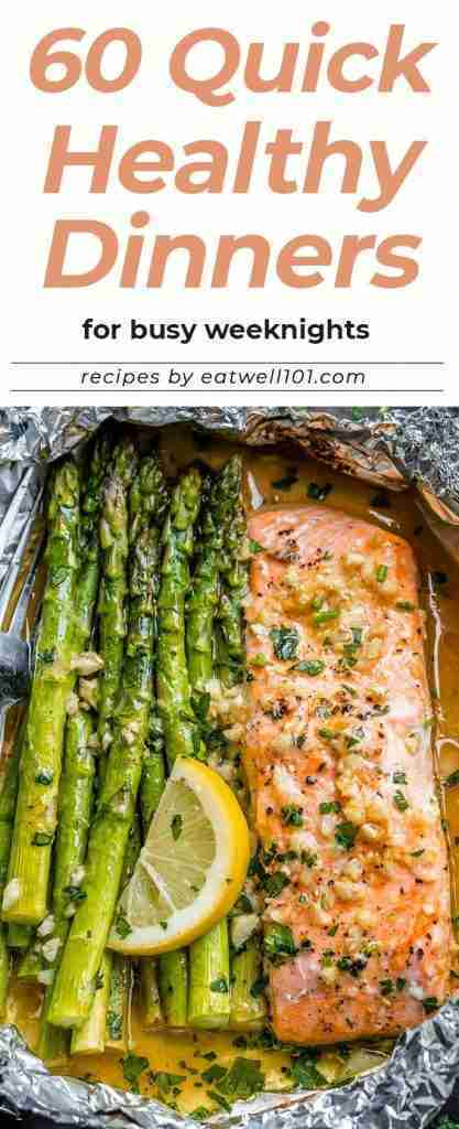 60+ Quick Healthy Dinners for Busy Weeknights