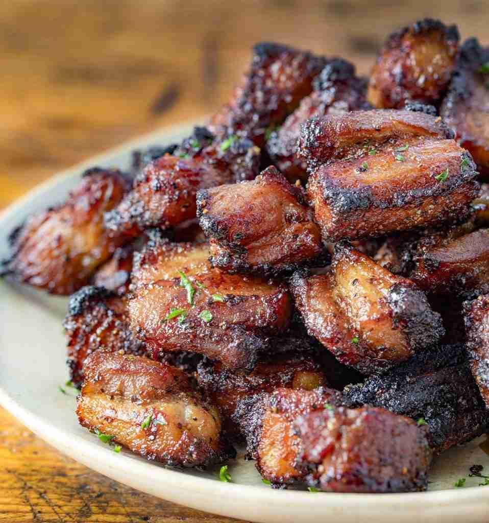 Air Fryer Pork Belly Bites