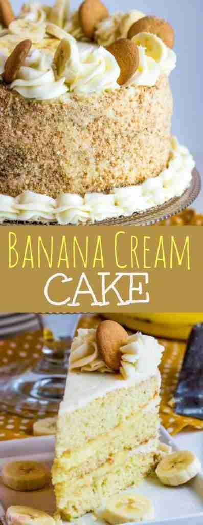 Banana Cream Cake {A Fun, Tasty, Homemade Layer Cake}