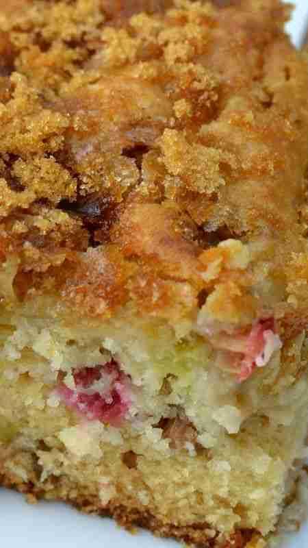 Brown Sugar Topped Rhubarb Cake Recipe