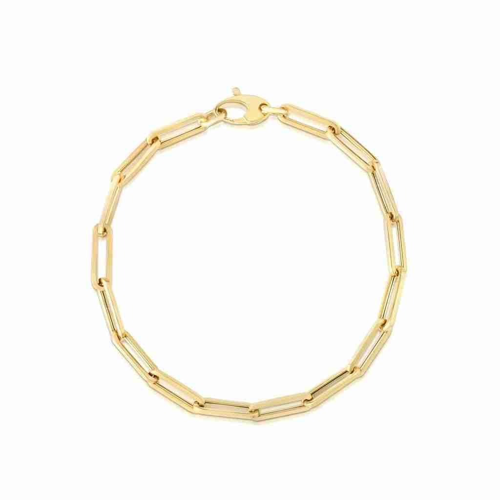 Chunky Paperclip Chain Bracelet