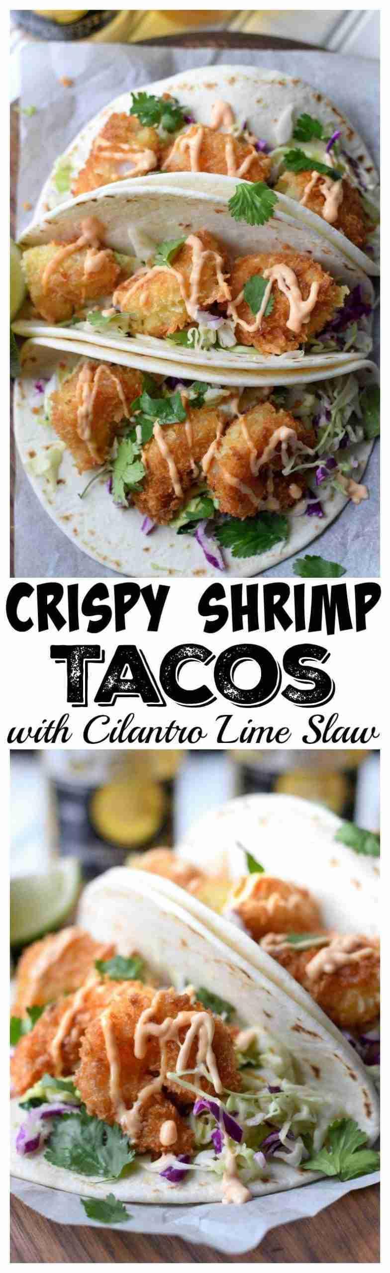 Crispy Shrimp Tacos with Cilantro Slaw-Butter Your Biscuit