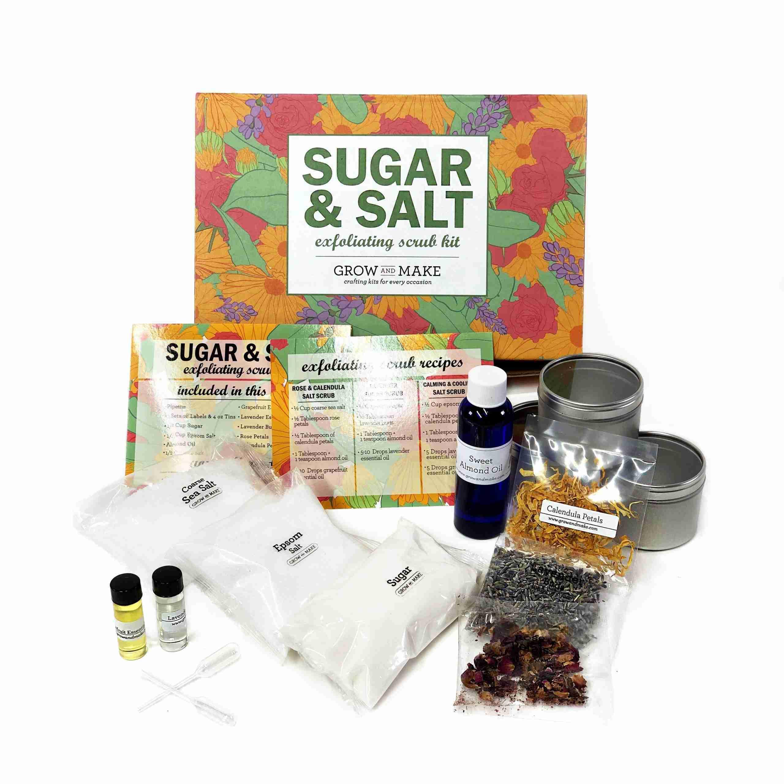 DIY Sugar & Salt Exfoliating Scrub Kit