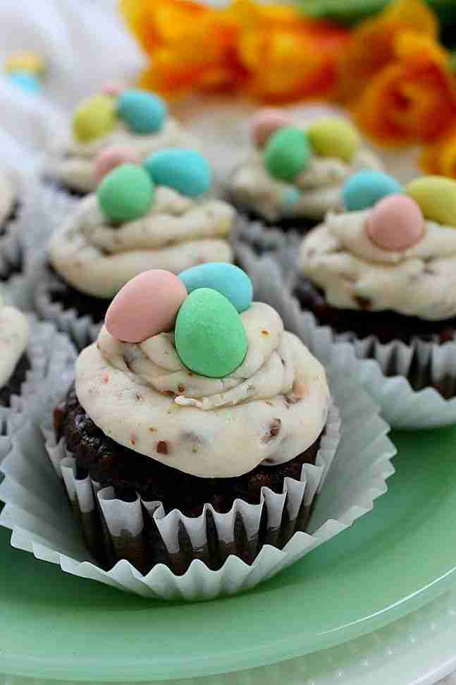 Easter Cupcakes with Mini-Egg Buttercream Icing | SHIFTING ROOTS