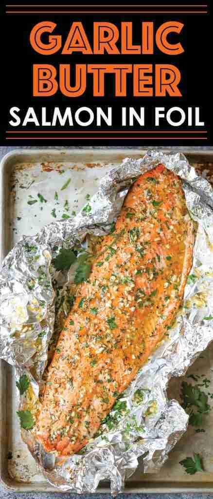 Garlic Butter Salmon in Foil – Damn Delicious