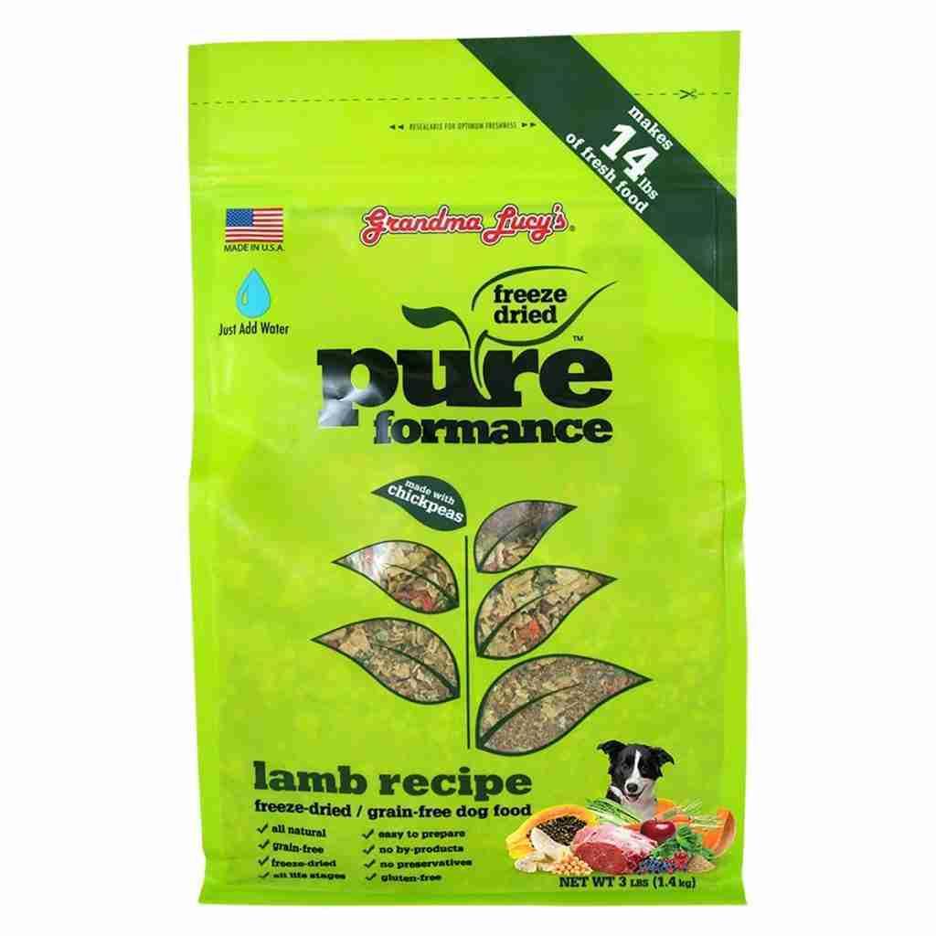 Grandma Lucy's Pureformance Freeze Dried Lamb Dog Food – Lamb / 10 lbs