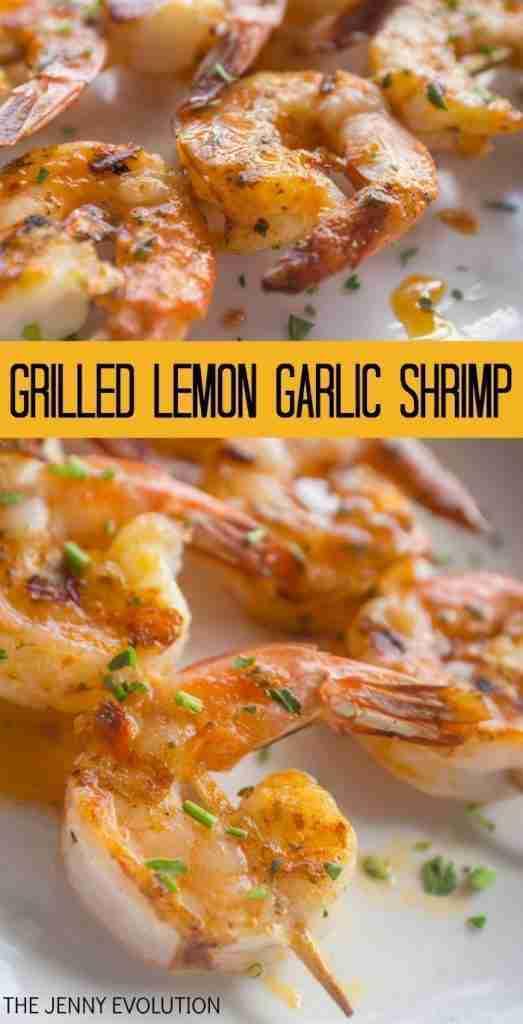 Grilled Lemon Garlic Shrimp Recipe | Mommy Evolution