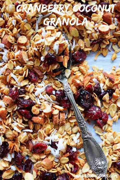 Homemade Cranberry Coconut Granola | Naive Cook Cooks