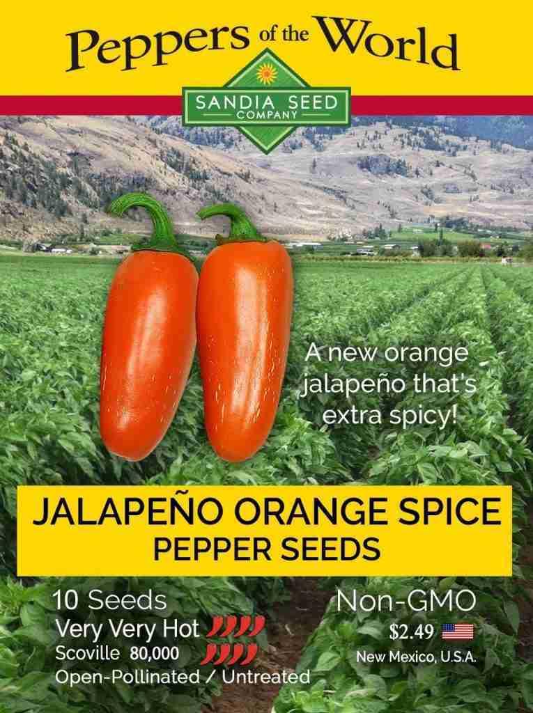 Jalapeño Orange Spice NuMex Seeds