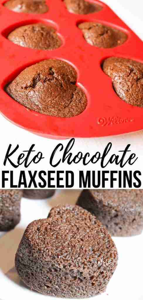 Keto Chocolate Flaxseed Muffins | Olivia Wyles | Keto Lifestyle Guide