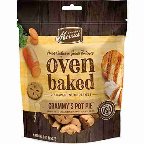 Merrick 76309 Oven Baked All Natural Hand Crafted in Small Batches Dog Treats 11 Oz Pouch Paw'some Peanut Butter – Oven Baked / Grammy's Pot Pie / 11 oz. Pouch