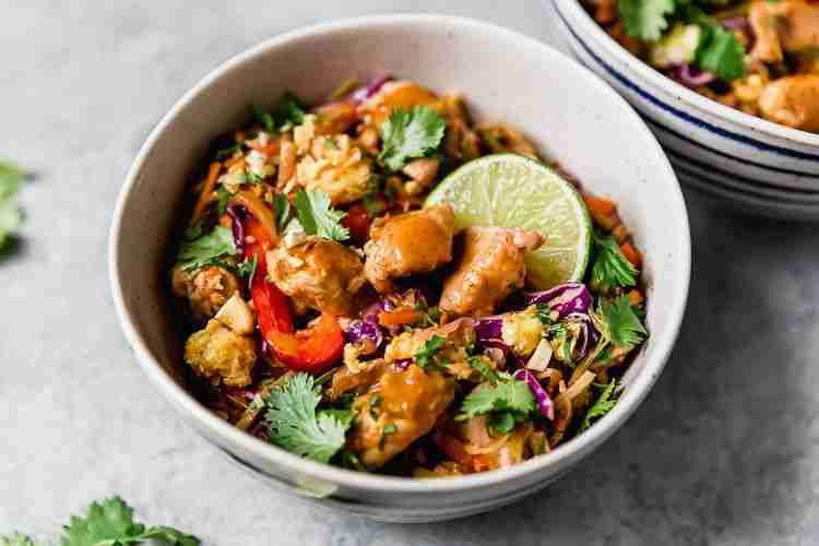 Noodle-Free Chicken Pad Thai-Inspired (Whole30)