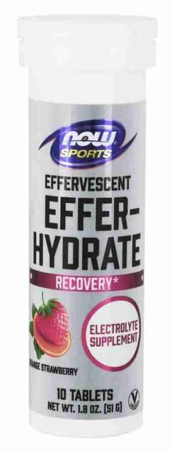 Now Sports – Effer-Hydrate Tablets – Orange/Strawberry