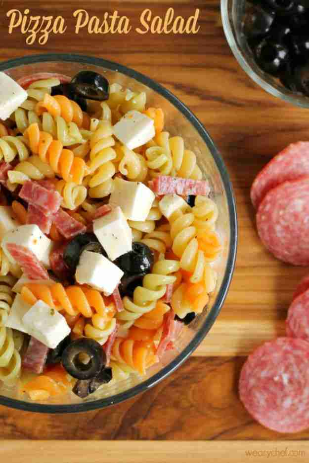 Pizza Pasta Salad – The Weary Chef