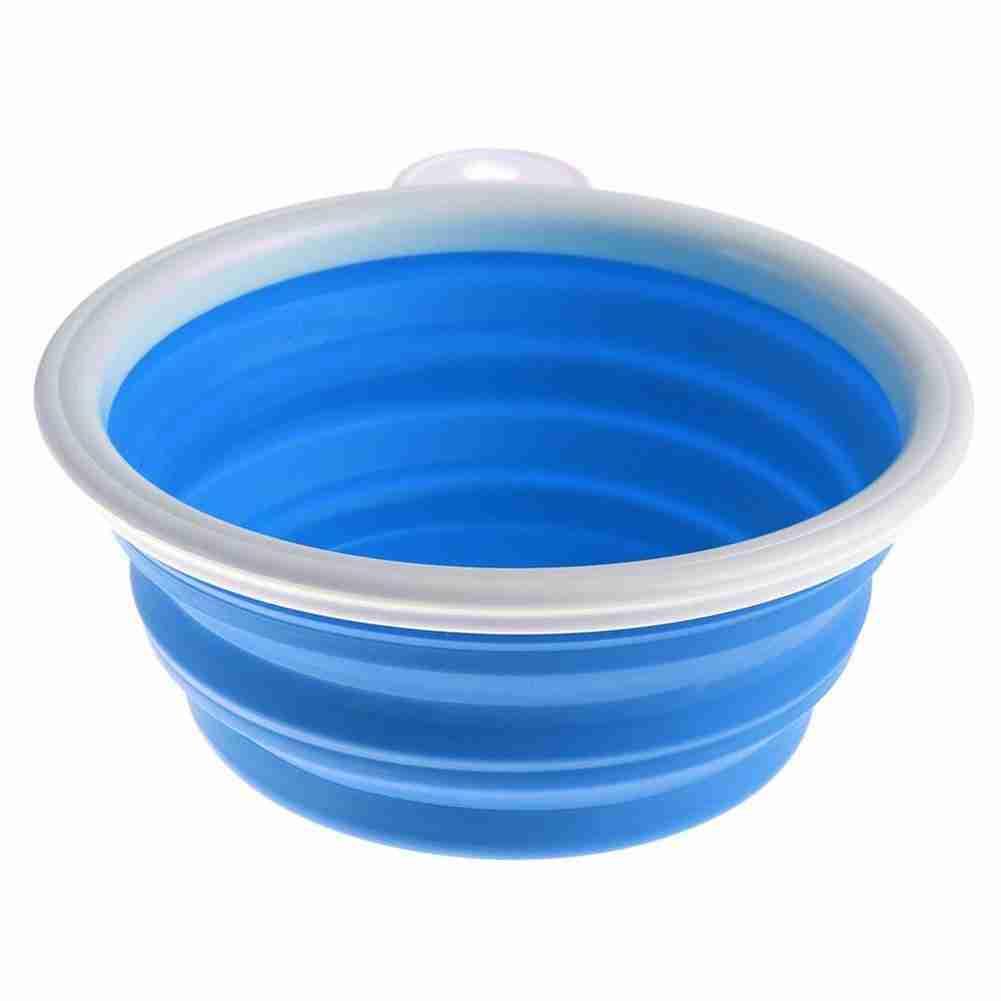 Portable & Collapsible Travel Pet Feeding Bowl – Blue / 2122