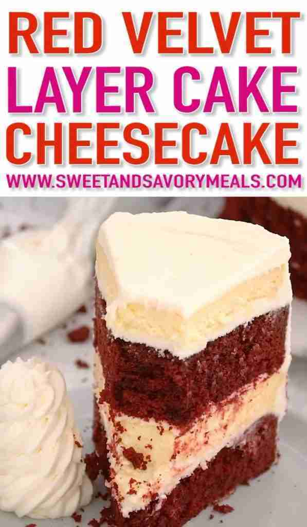 Red Velvet Cake Cheesecake (Video) – Sweet and Savory Meals
