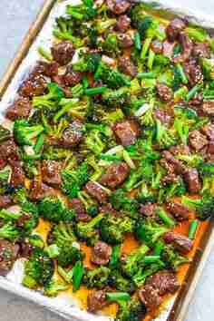 Sheet Pan Chinese Beef and Broccoli (15 Minutes!) – Averie Cooks