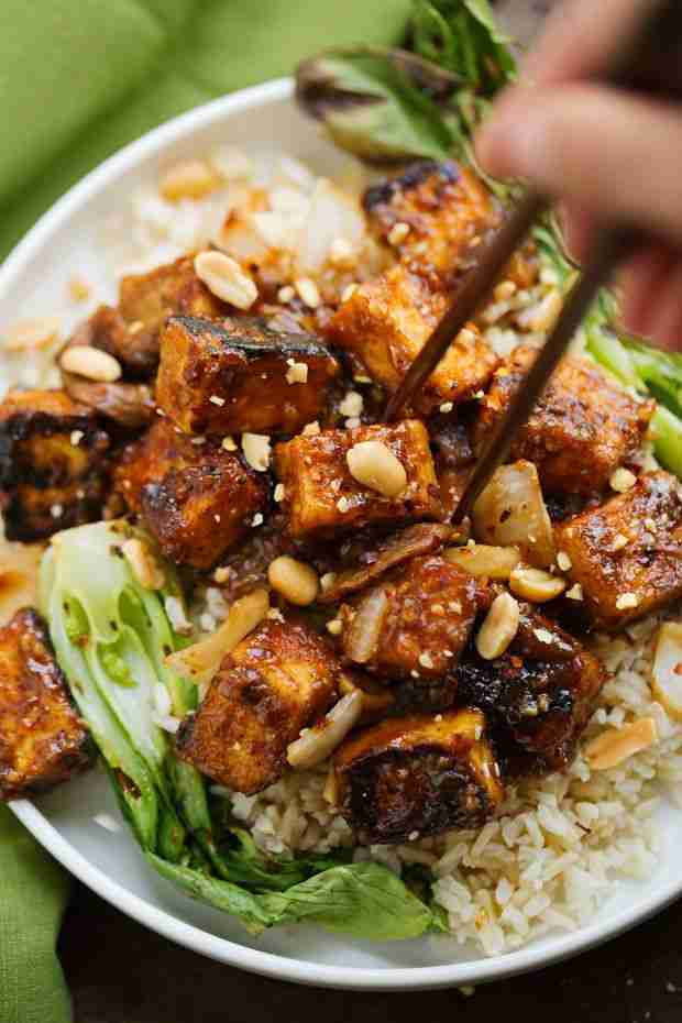 Spicy Peanut Tofu Stir Fry