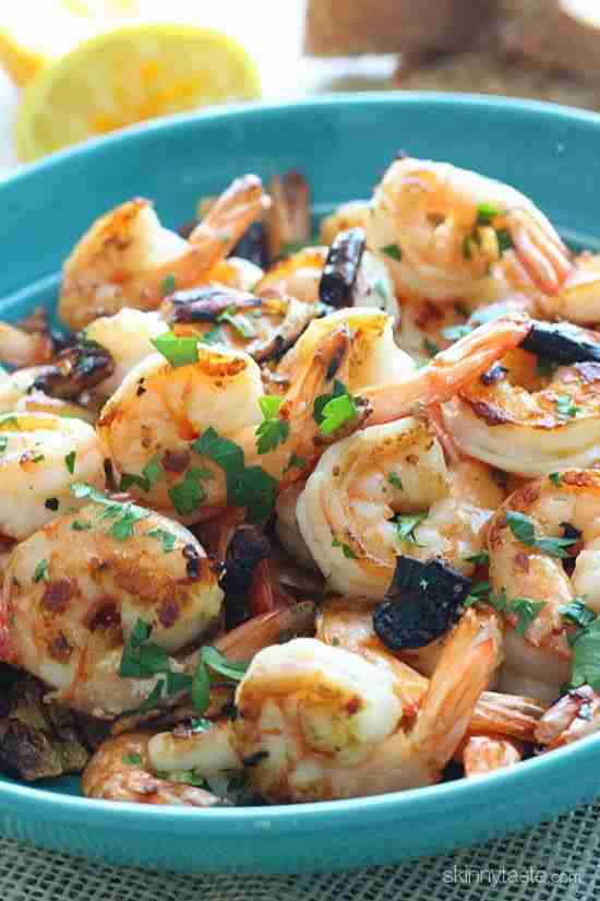 Spicy Shrimp with Chilies and Garlic