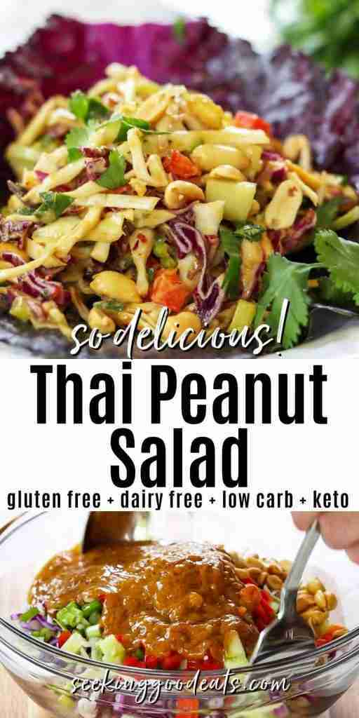 Thai Peanut Salad Recipe (Low Carb Keto Salad)