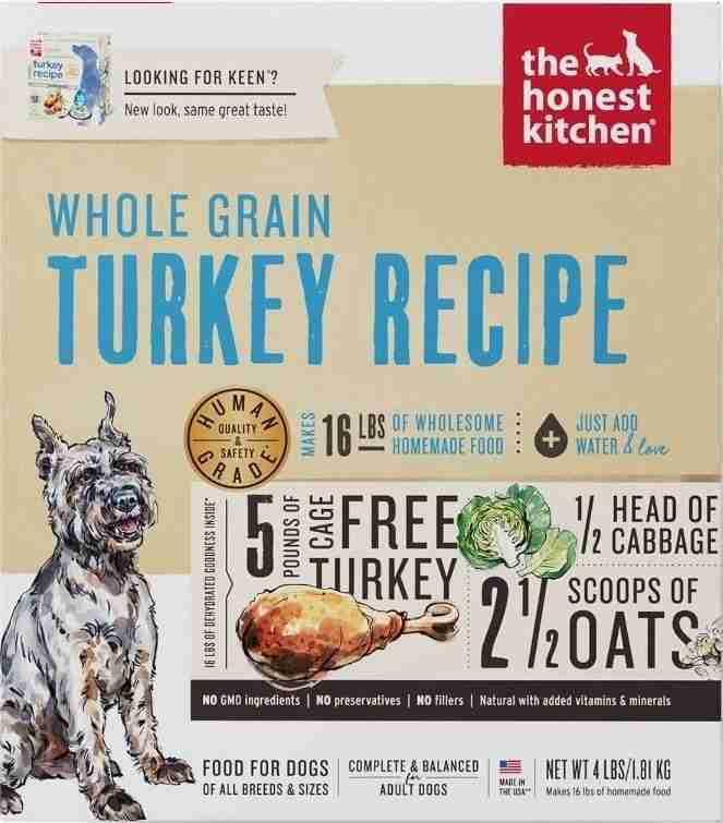 The Honest Kitchen Whole Grain Turkey Dog Food – Turkey / 4 lbs