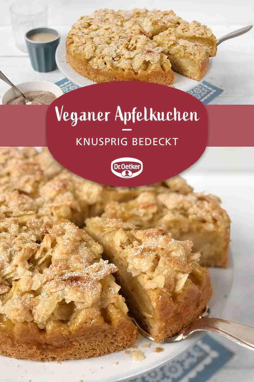 Veganer Apfelkuchen mit Mandel-Knusperhaube