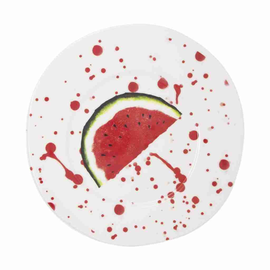 Vietri Melamine Fruit Watermelon Dinner Plate