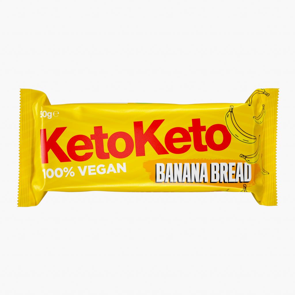 12x50G | Banana Bread | KetoKeto | Biscuit Bars – Banana Bread