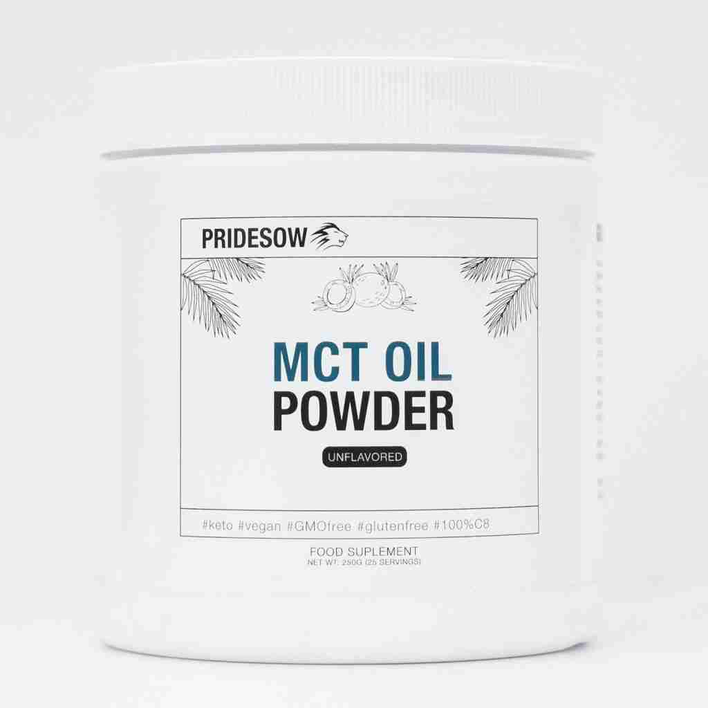 1x250G   Unflavored   Pridesow   C8 MCT Oil Powder – Unflavored