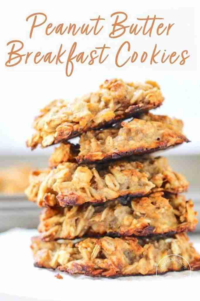 3 Ingredient Peanut Butter Banana Breakfast Cookies
