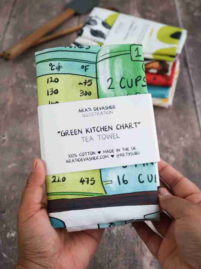 A Kitchen Chart from Oz – tea towel