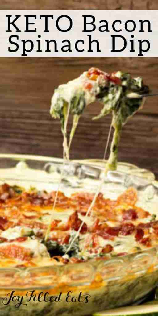 Bacon Caesar Spinach Dip – Low Carb & THM S.